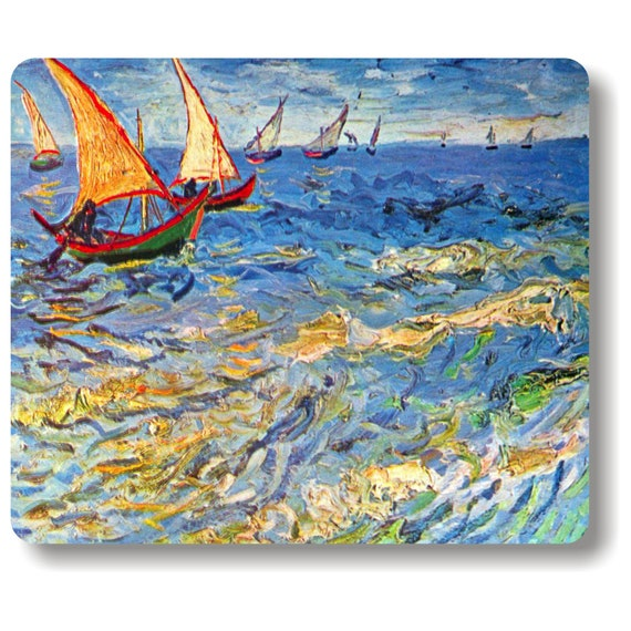 Seascape at Saintes-Maries Van Gogh Painting Mousepad