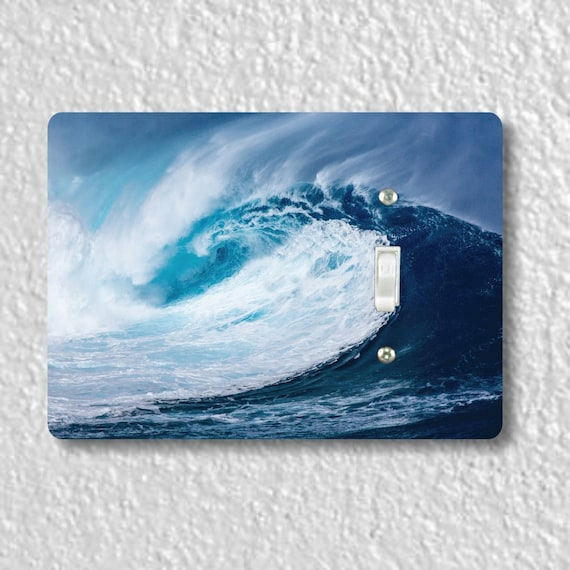 Pacific Ocean Wave Precision Laser Cut Toggle and Decora Rocker Light Switch Wall Plate Covers