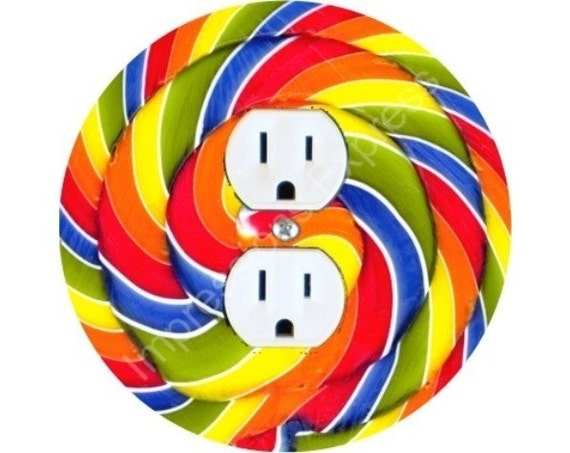 Giant Lollipop Duplex Outlet Plate Cover
