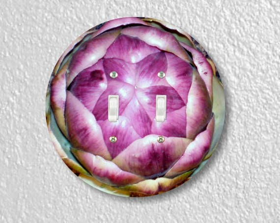 Artichoke Double Toggle Round Light Switch Plate Cover