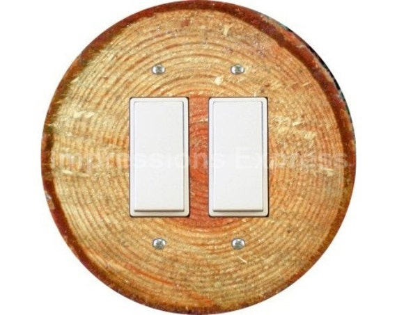 Tree Log Decora Double Rocker Switch Plate Cover