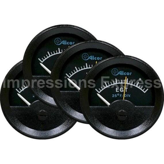 Engine Gas Temperature EGT Indicator Aviation Round Coasters - Set of 4