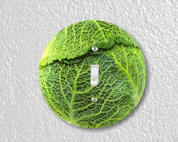 Cabbage Round Single Toggle Switch Plate Cover
