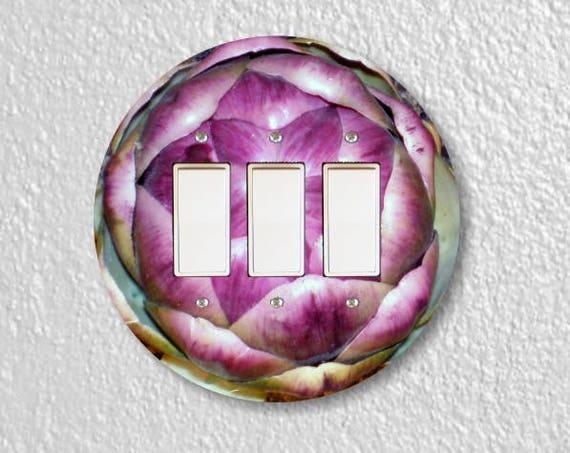 Artichoke Triple Decora Rocker Round Light Switch Plate Cover