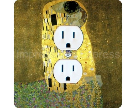 Gustav Klimt The Kiss Square Duplex Outlet Plate Cover