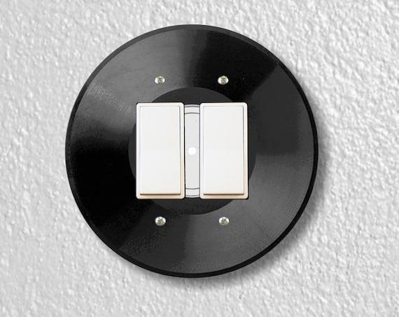 Vinyl Record Round Decora Double Rocker Light Switch Plate Cover