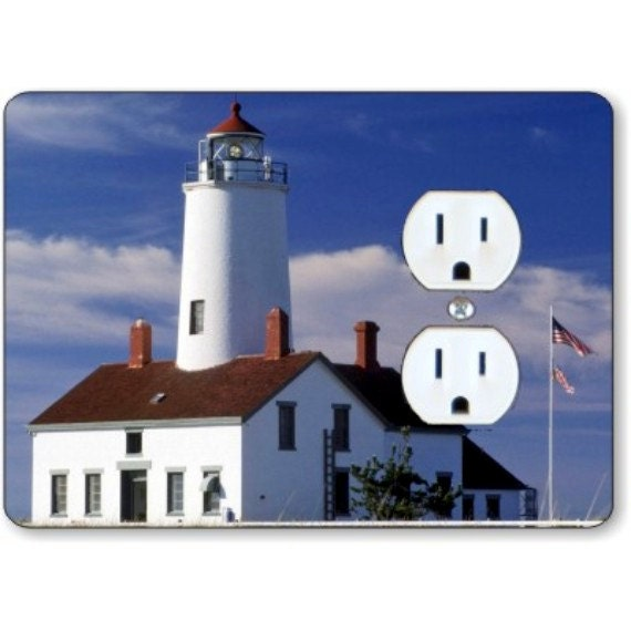 Lighthouse Nautical Duplex Outlet Plate Cover