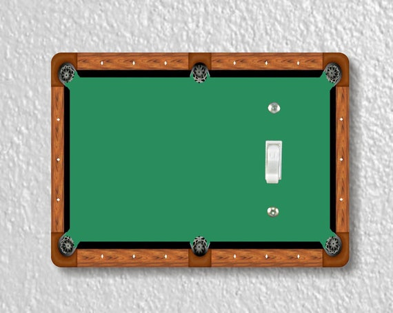 Billiard Table Precision Laser Cut Toggle and Decora Rocker Light Switch Wall Plate Covers