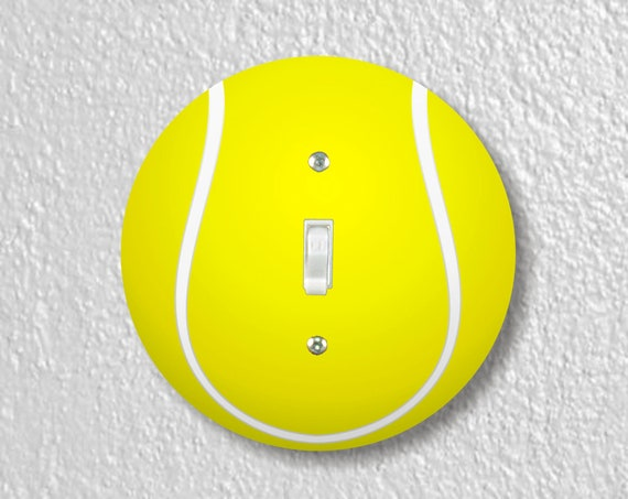 Tennis Ball Precision Laser Cut Toggle and Decora Rocker Round Light Switch Wall Plate Covers