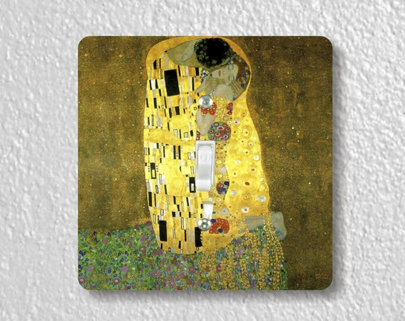 Gustav Klimt The Kiss Precision Laser Cut Toggle and Decora Rocker Square Light Switch Wall Plate Covers