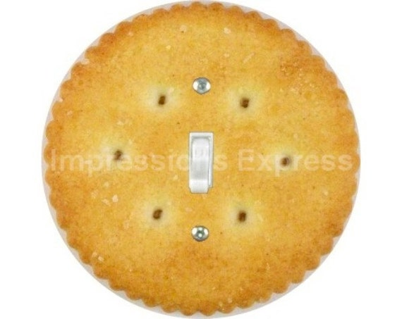 Round Cracker Single Toggle Switch Plate Cover