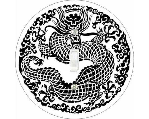 Oriental Dragon Single Toggle Switch Plate Cover