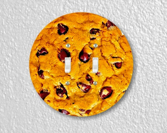Chocolate Chip Cookie Round Double Toggle Switch Plate Cover