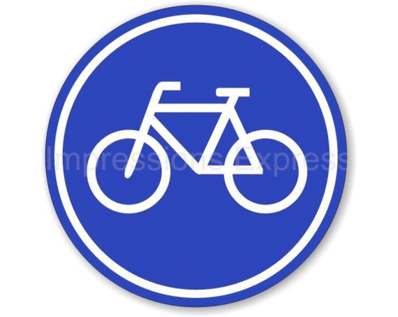 Bicycle Sign Round Mousepad