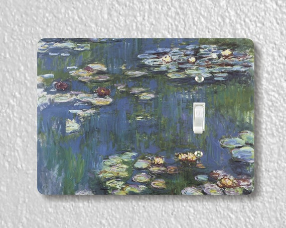 Monet Water Lilies Precision Laser Cut Toggle and Decora Rocker Light Switch Wall Plate Covers