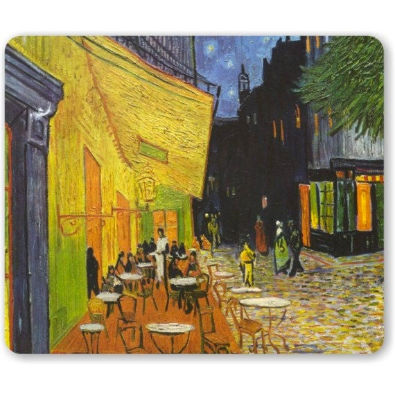 Café Terrace at Night Van Gogh Painting Mousepad
