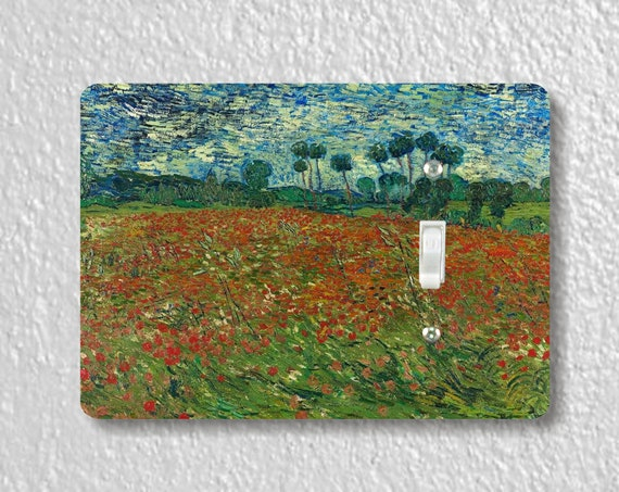 Poppy Field Van Gogh Art Painting Precision Laser Cut Toggle and Decora Rocker Light Switch Wall Plate Covers