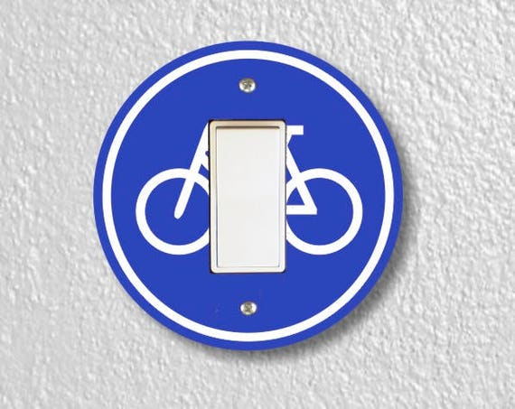 Bicycle Sign Round Decora Rocker Switch Plate Cover