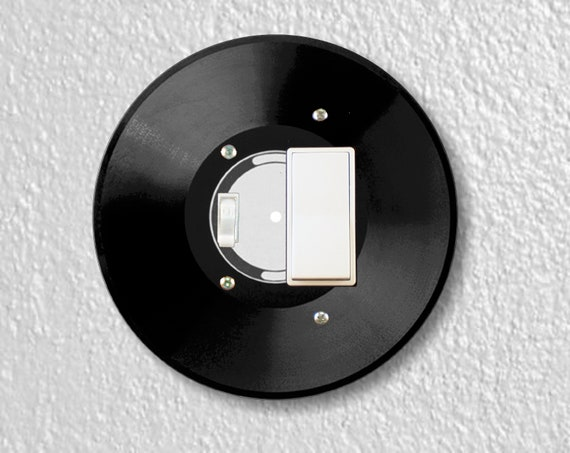Vinyl record Round Toggle and Decora Rocker Light Switch Plate Cover