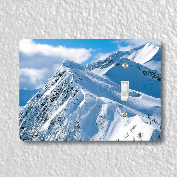 Snowy Mountains Precision Laser Cut Toggle and Decora Rocker Light Switch Wall Plate Covers