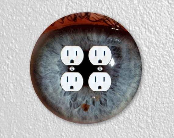 Eye Ball Round Double Duplex Outlet Plate Cover