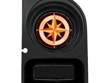 Nautical Compass Round Sandstone Car Cupholder Coaster