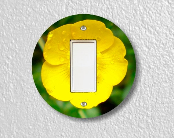 Buttercup Flower Round Decora Rocker Switch Plate Cover