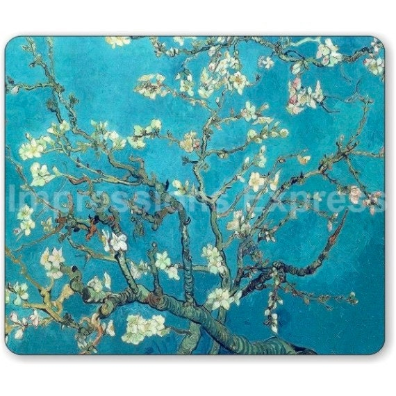 Almond Branches Van Gogh Painting Mousepad