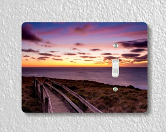 Ocean Sunrise Precision Laser Cut Toggle and Decora Rocker Light Switch Wall Plate Covers