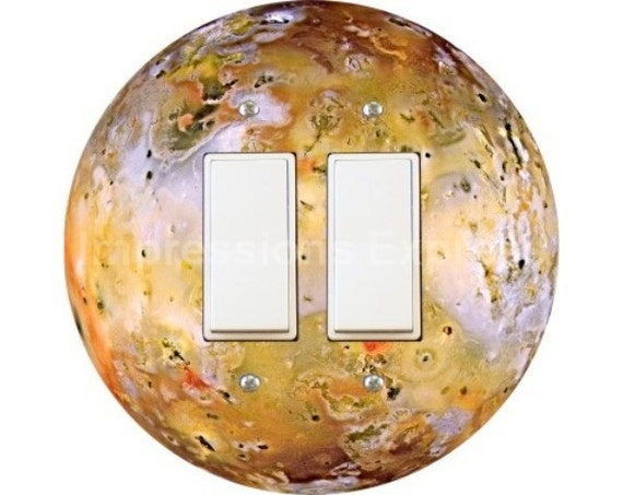 Jupiter Moon Io Space Decora Double Rocker Switch Plate Cover