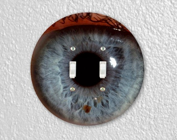 Eye Ball Round Double Toggle Switch Plate Cover