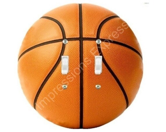 Orange Basketball Double Toggle Switch Plate Cover