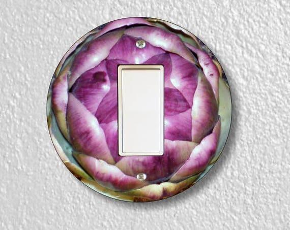 Artichoke Decora Rocker Round Light Switch Plate Cover