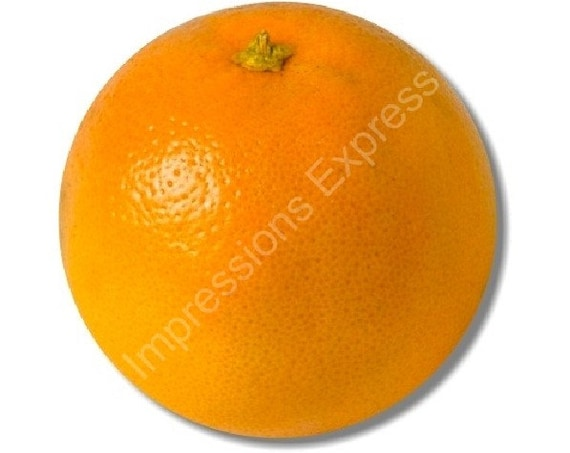 Orange Fruit Round Mousepad