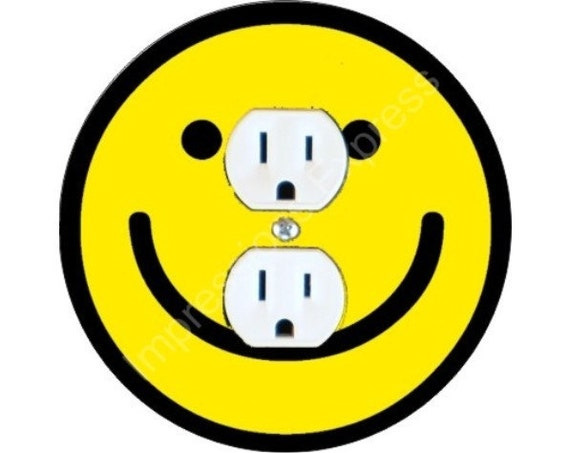 Smiley Face Duplex Outlet Plate Cover