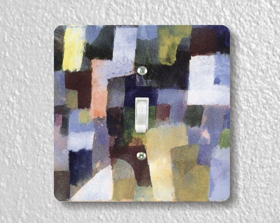 Paul Klee Painting Precision Laser Cut Toggle and Decora Rocker Square Light Switch Wall Plate Covers