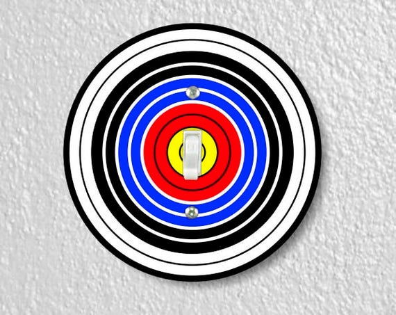 Archery Target Single Toggle Round Light Switch Plate Cover