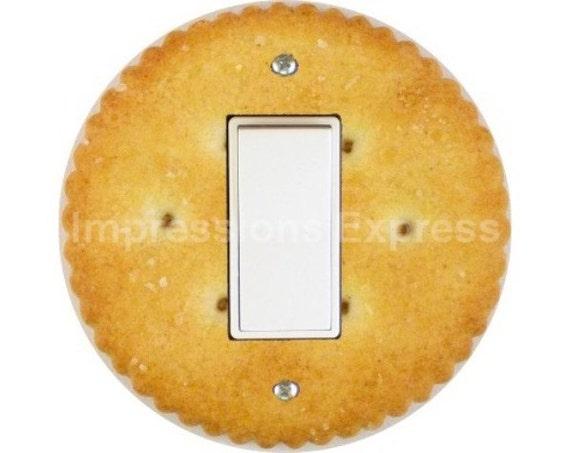 Round Cracker Decora Rocker Switch Plate Cover