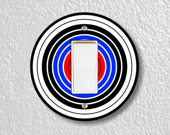 Archery Target Decora Rocker Round Light Switch Plate Cover