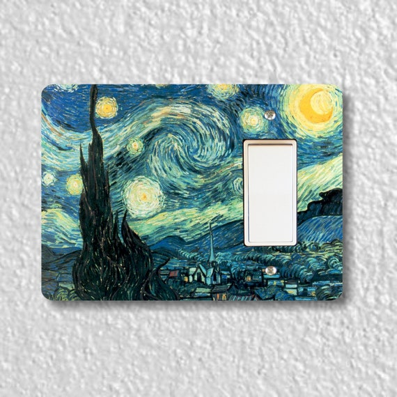 Starry Night Van Gogh Painting Decora Rocker Light Switch Plate Cover