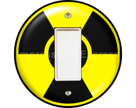 Radioactive Sign Decora Rocker Switch Plate Cover