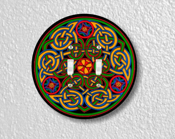Celtic Knot Round Double Toggle Light Switch Plate Cover