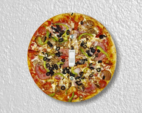 Supreme Pizza Precision Laser Cut Toggle and Decora Rocker Round Light Switch Wall Plate Covers