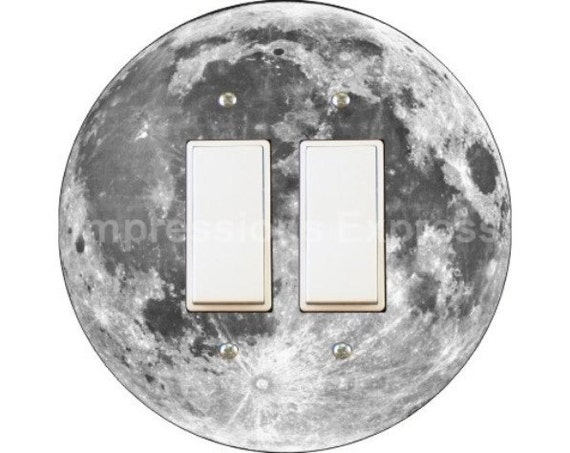 Moon from Space Decora Double Rocker Switch Plate Cover