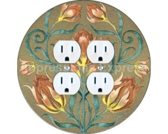 Victorian Floral Double Duplex Outlet Plate Cover