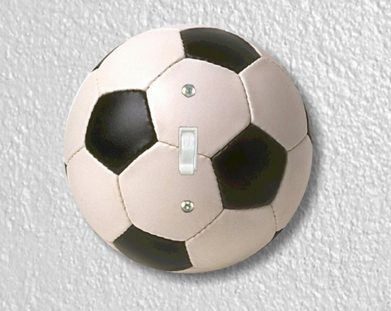 Soccer Sports Ball Precision Laser Cut Toggle and Decora Rocker Round Light Switch Wall Plate Covers