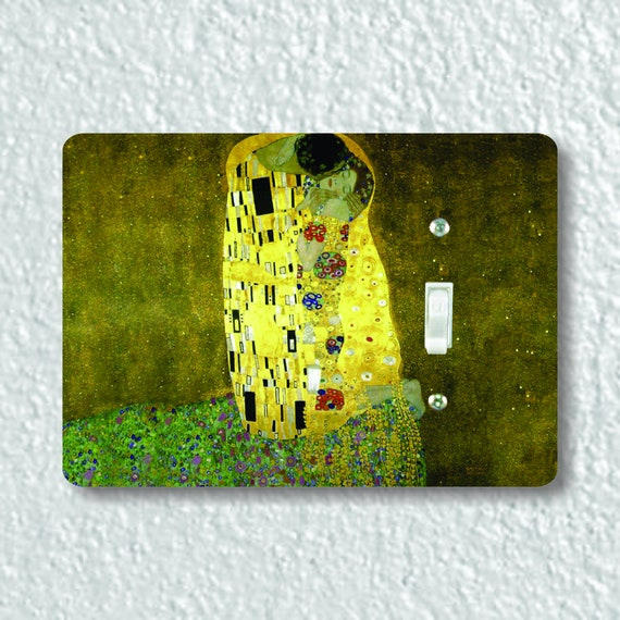 Precision Laser Cut Toggle And Decora Rocker Light Switch Plate Covers - Klimt The Kiss Painting - Home Decor - Wallplates