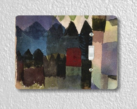 Föhn In Marc's Garden Paul Klee Painting Single Toggle Light Switch Plate Cover