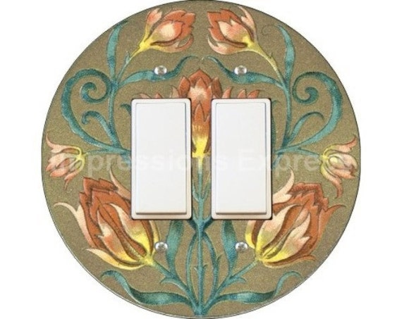 Victorian Floral Decora Double Rocker Switch Plate Cover