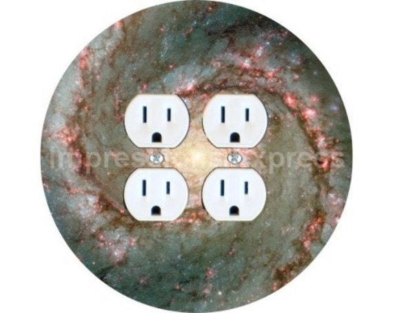 Whirlpool Galaxy Space Double Duplex Outlet Plate Cover